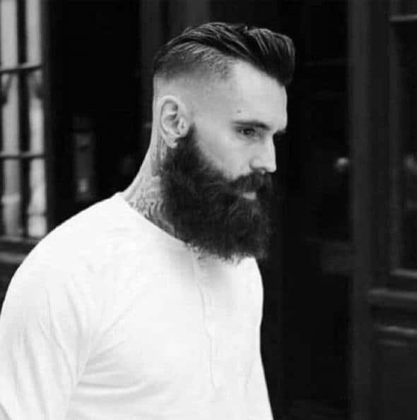 Stylish Slicked Back Undercut Hairstyles For Gentlemen With Beards