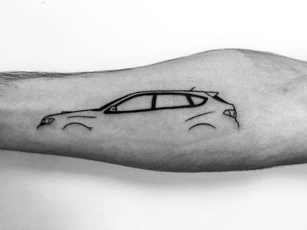 Subaru Tattoos For Gentlemen