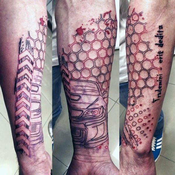 Subaru Themed Tattoo Ideas For Men