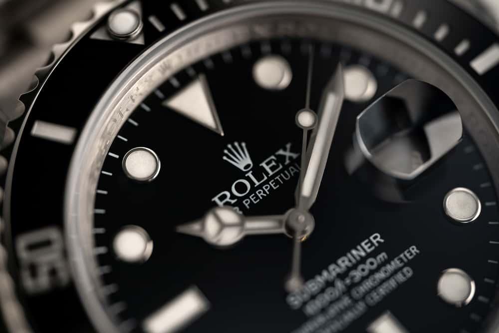 rolex submariner watch dials close up