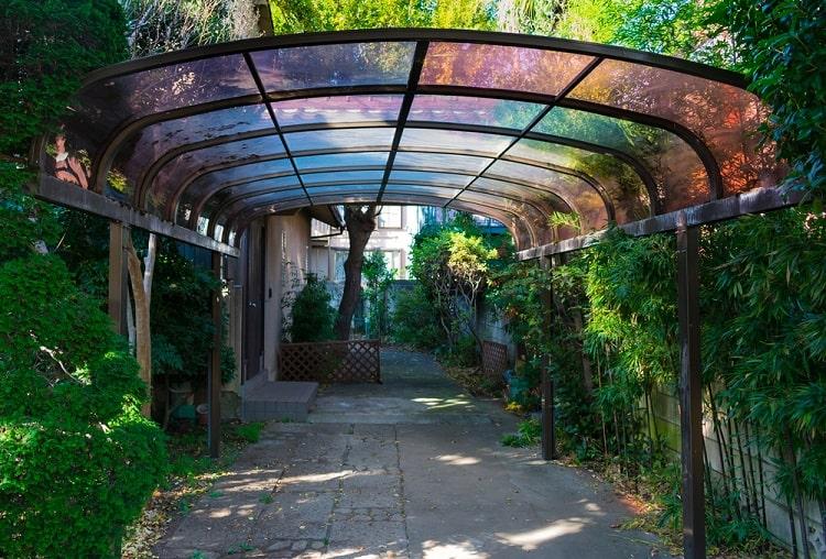 Suburban Transparent Roof Metal Carport Ideas
