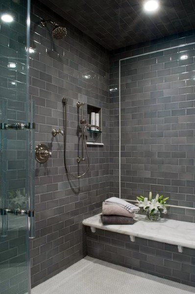 Subway Grey Bathroom Tile Shower Ideas