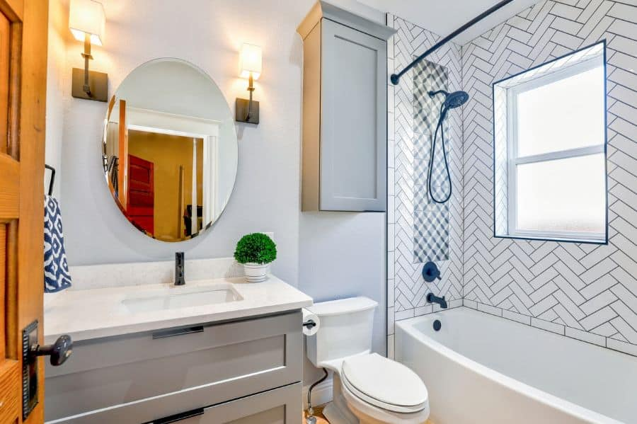 Subway Small Bathroom Tile Ideas 1
