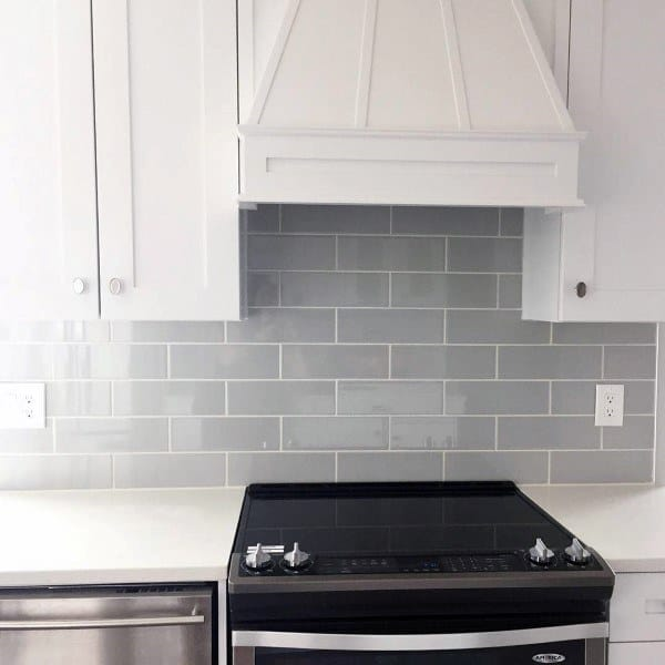 Subway Tile Grey Kitchen Backsplash Ideas