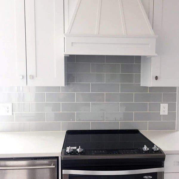 Subway Tile Grey Kitchen Backsplash Ideas