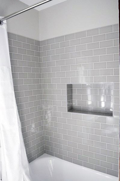 Subway Tile Shower Home Designs
