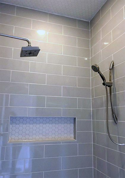 Top 50 Best Subway Tile Shower Ideas - Bathroom Designs
