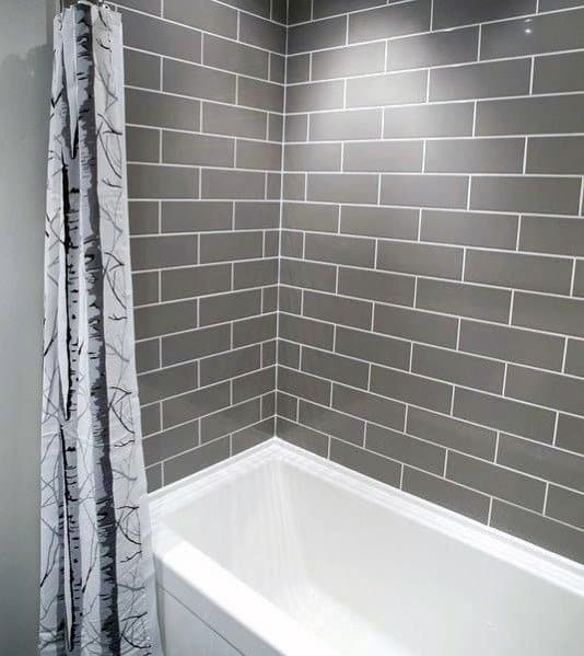 Subway Tile Shower Interior Ideas Above Tub