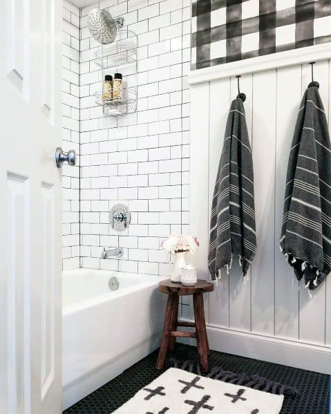 Subway Tile Shower Tub Combo Interior Design