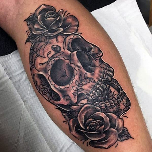 Sugar Skulls Tattoo On Male
