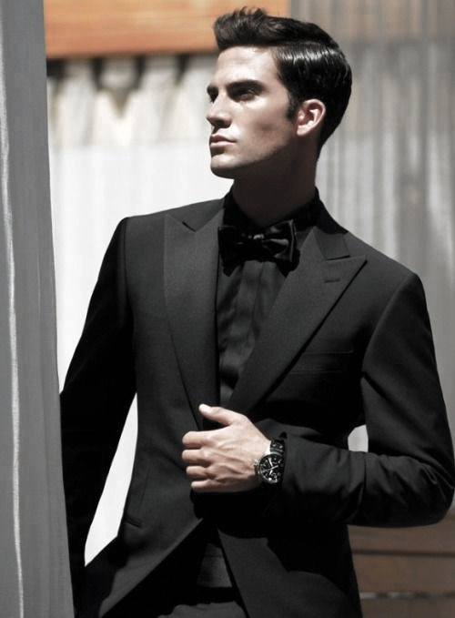 Suit And Bowtie Mens All Black Outfits Mens Styles