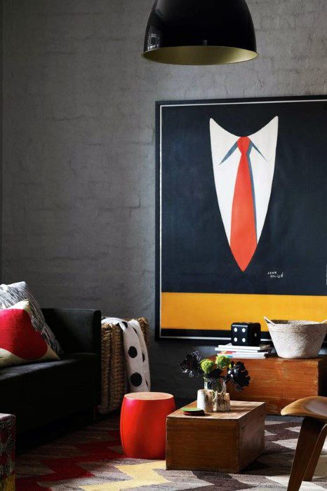 Suit And Tie Modern Mens Wall Art Bachelor Pad Decor