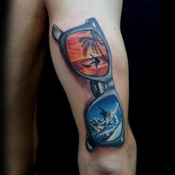 Summer And Winter Themed Mens Glasses Tricep Tattoos
