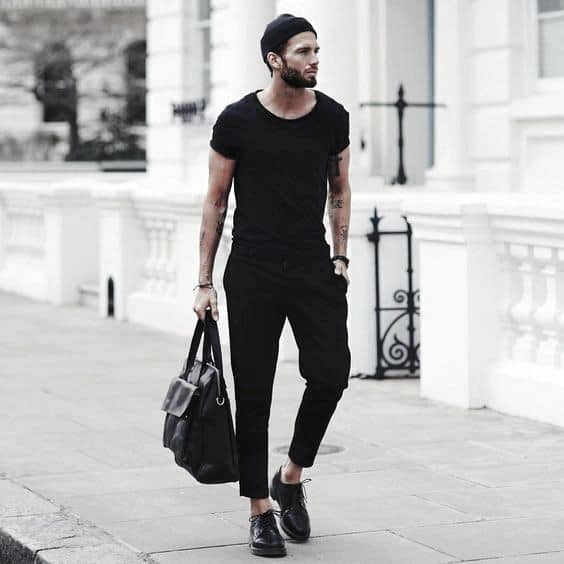 Summer Casual Luxury All Black Outfits Mens