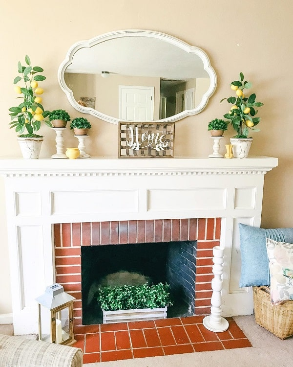 Summer Lemon Refresh Mantel Decor Myfauxcottage
