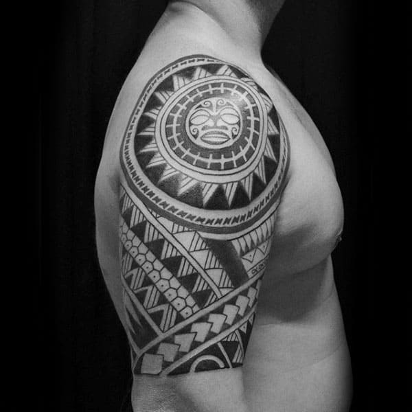 Sun Arm Tribal Tattoos Designs For Guys