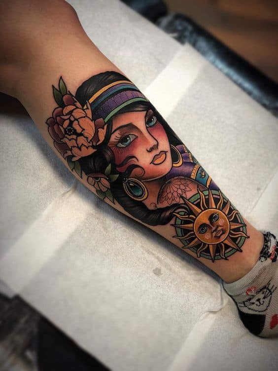 Tatouage Gypsy Fleur De Soleil