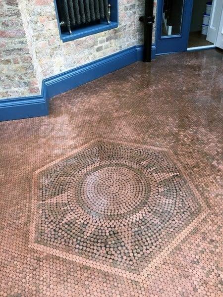 Sun Star Penny Floor Pattern Symbol