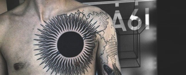 Sun Tattoo Designs For Men