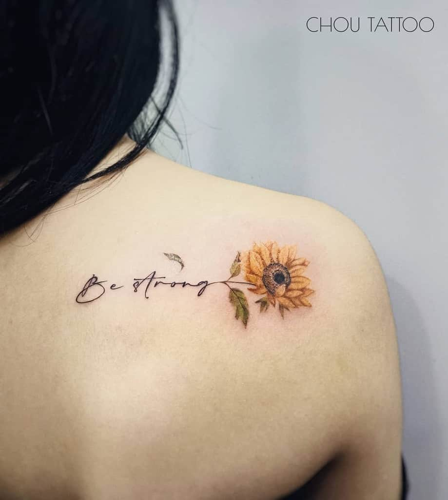 sunflower-flower-shoulder-tattoo-choutatu
