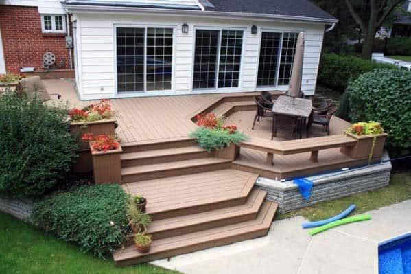 Sunken Conversation Pit Deck Bench Design Ideas