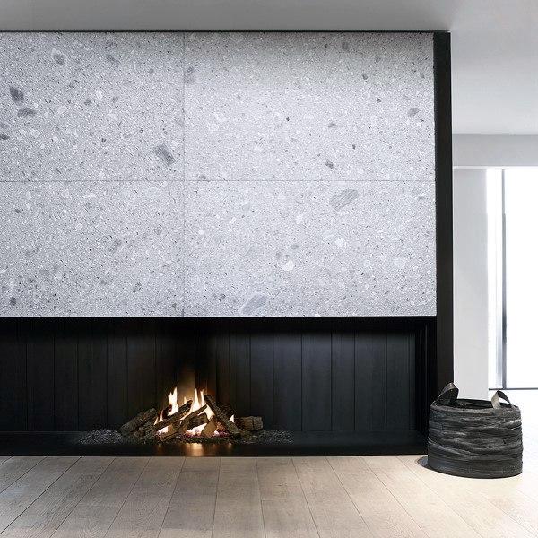 Sunken Modern Fireplace Design Ideas