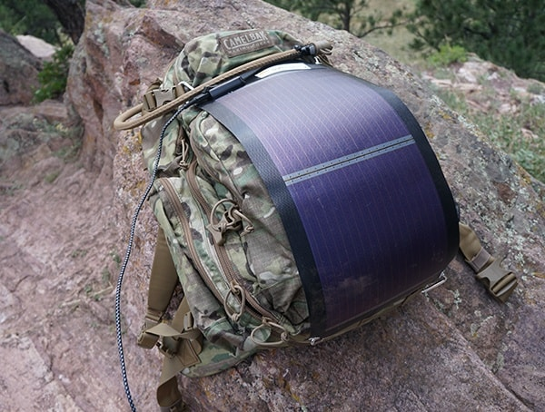 Sunsoaker Backpack Solar Panel With Carabiner Attachements