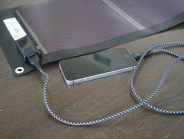 Sunsoaker Charging Iphone With Cable