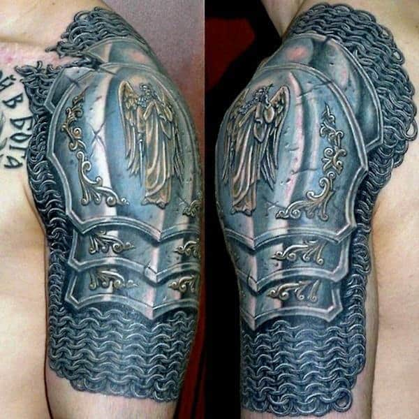 Super Artistic Quarter Sleeve Tattoo For Males