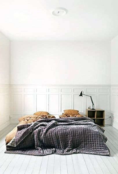 Super Simple White Paint Wall Bedroom Ideas Mens