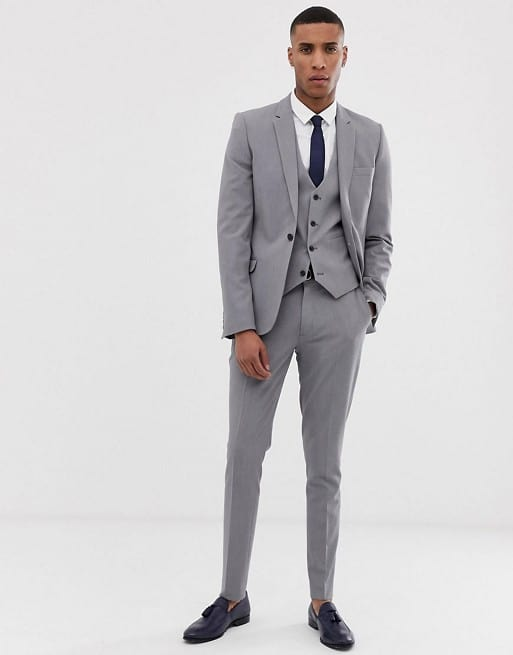 Super Skinny Suit In Mid Gray