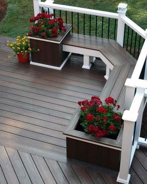 Superb Deck Bench Ideas
