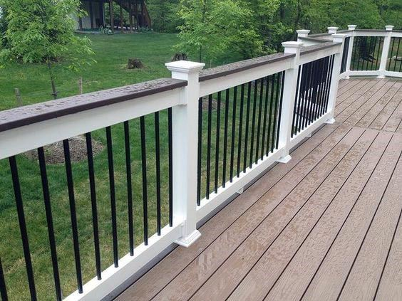 Superb Deck Railing Ideas White With Painted Wood