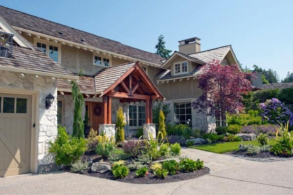 Top 70 Best Front Yard Landscaping Ideas - Outdoor Designs on Luxury Front Yard Landscape id=65129