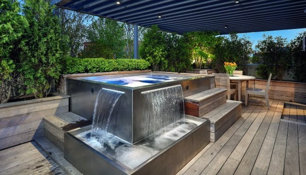 Superb Hot Tub Deck Ideas - Top 80 Best Hot Tub Deck Ideas - Relaxing Backyard Designs