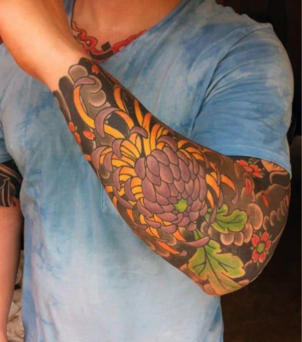 Superb Japanese Sleeve Tattoo Men