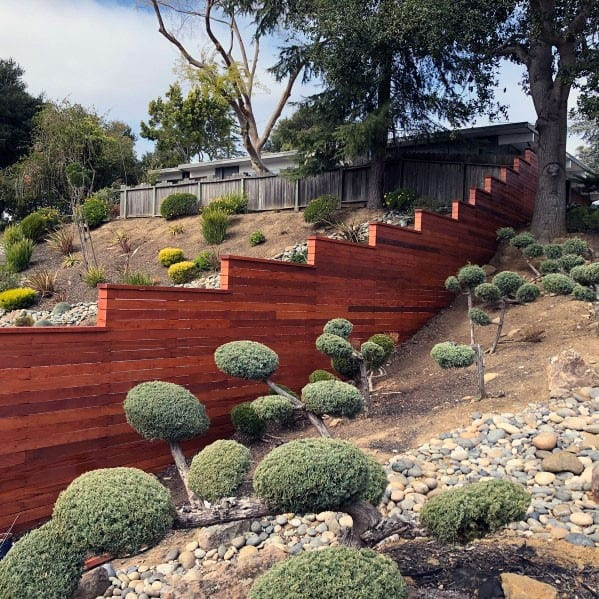 Superb Modern Fence Ideas Sloped Backyards