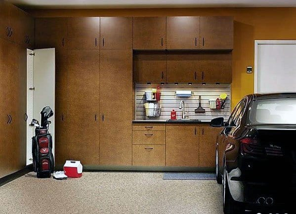Superb Wood Storage Wall Garage Cabinet Ideas