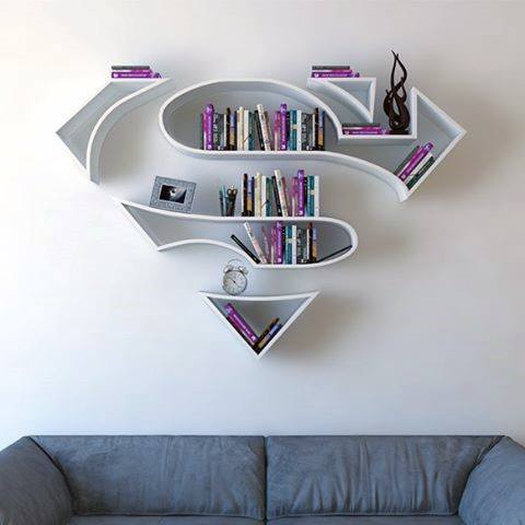 Superman Shelf Cool Diy Wall Art Man Cave Ideas