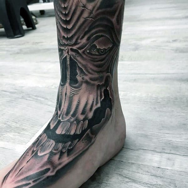 Supernatural Presence Tattoo On Foot For Men