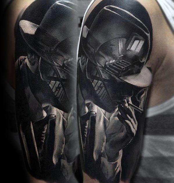 Surrealism Half Sleeve 3d Male Epic Tattoo Ideas