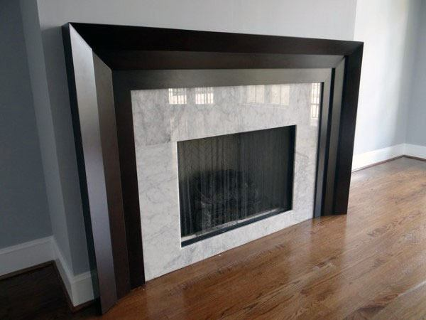 Surrond Wood Modern Fireplace Design Ideas
