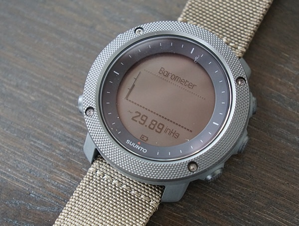 Suunto Traverse Alpha Barometer Chart Graph On Dial