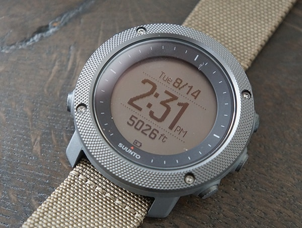Suunto Traverse Alpha Elevation With Time And Date Dial