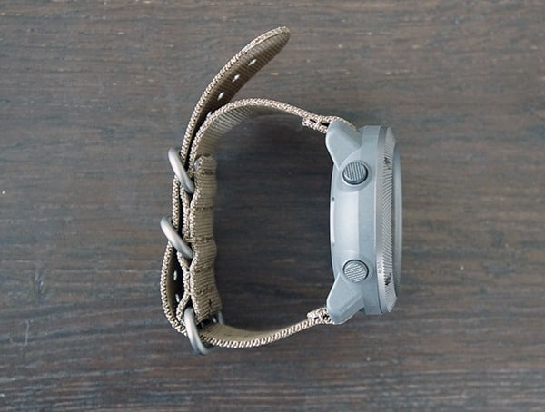 Suunto Traverse Alpha Two Button Side Of Watch