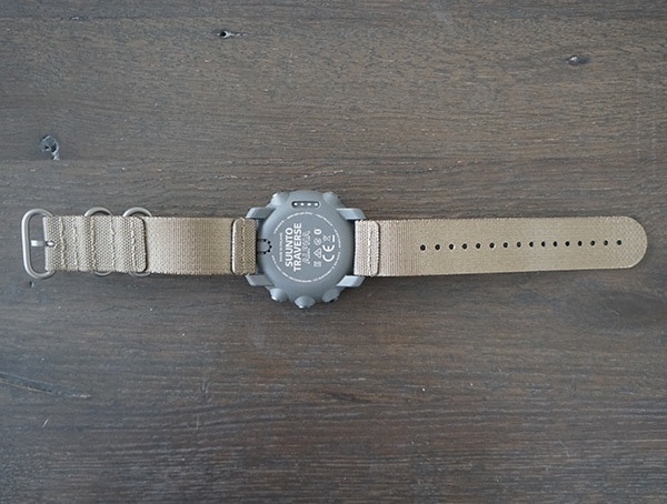 Suunto Traverse Alpha Watch Back With Foliage Strap