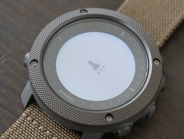 Suunto Traverse Alpha Watch Flashlight Feature Activated