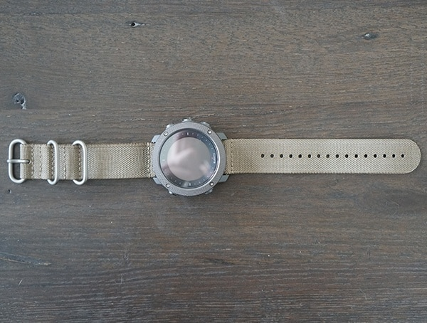 Suunto Traverse Alpha Watch Front With Foliage Strap