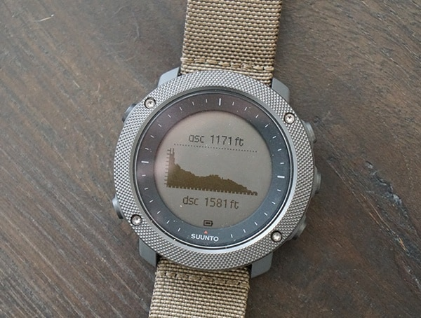 Suunto Traverse Alpha Watch Review Altitude Chart
