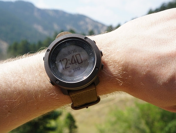 Suunto Traverse Alpha Watch Time Display
